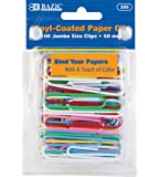 BAZIC Jumbo Color Paper Clips, 50 mm, Assorted, 100 Per Pack