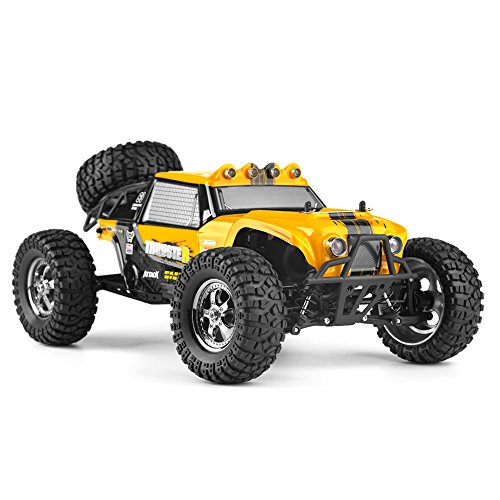 Price comparison product image HBX 1:12 Scale 4WD Electric RC Car 12889E,  Two Speed Switchable Off-road Truck with 2.4 GHz Controller and LED Lights,  Waterproof All Terrain Hobby Grade RC Toys Included Battery and Charger