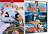 It Doesn't Get Any Whackier Or Zanier Than This 4 DVD Pack: Ernest Triple Feature (Ernest Goes To Camp/ Ernest Scared Stupid/ Ernest Goes To Jail )+ Big Top Pee- Wee My Circus Movie