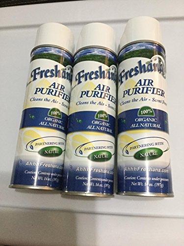 Freshana Organic Solutions Air Purifier - Scent Free - 100% Organic All Natural 3PK