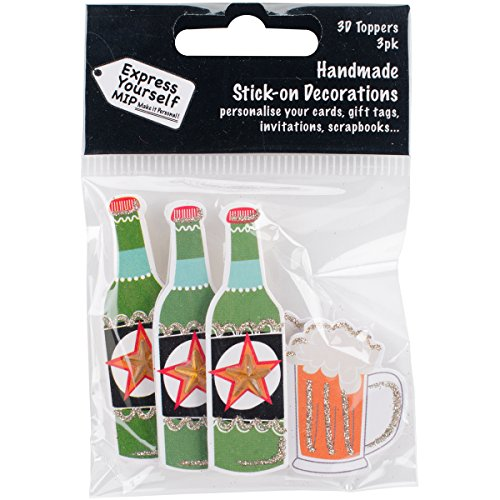 Express Yourself MIP 3D Stickers-Beer Bottle & Glass