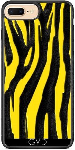 Funda de silicona para Iphone 7/7S - Estampado De Cebra Luminoso 013 by Aloke Design Silicona