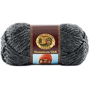 Lion Brand Yarn 135-150 Hometown USA Yarn, Chicago Charcoal