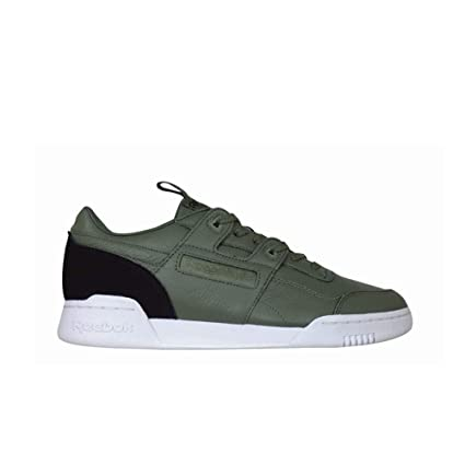 b63a8edb9837 Image Unavailable. Image not available for. Color  Reebok Workout Plus It  (Hunter Green Black White) Men s Shoes BS8096