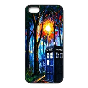 Doctor Who Series, For Iphone 6 Plus Phone Case Cover BBC Doctor Who The TARDIS Police Box Abstract For Iphone 6 Plus Phone Case Cover [Black]