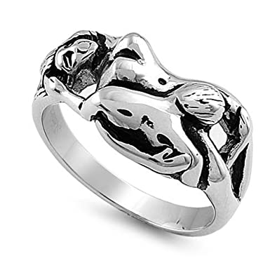 Princess Kylie 925 Sterling Silver Celtic Sideway Cross Style Ring