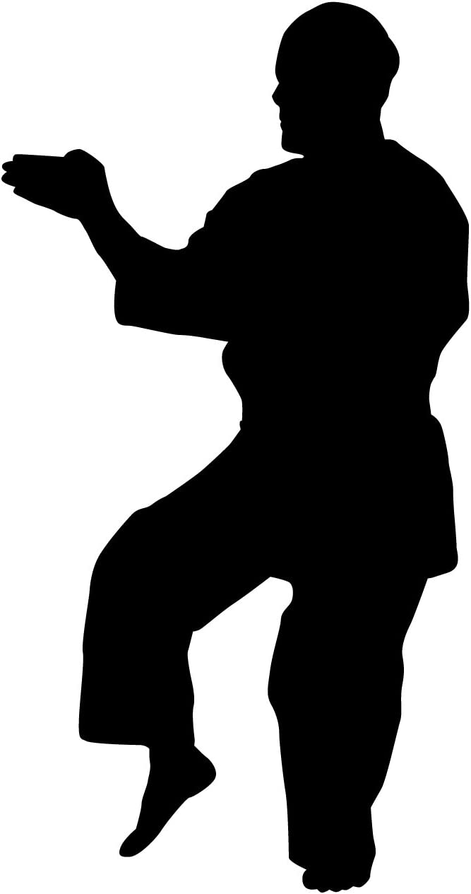 Martial Arts Wall Decal Sticker 41 - Decal Stickers and Mural for Kids Boys Girls Room and Bedroom. Karate Sport Wall Art for Home Decor and Decoration - Martial Art Kung Fu Taekwondo Silhouette Mural