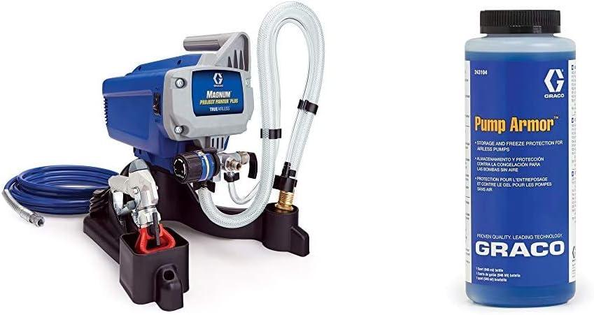 Graco Magnum 257025 Project Painter Plus Paint Sprayer & 243104 Pump Armor, 1-Quart