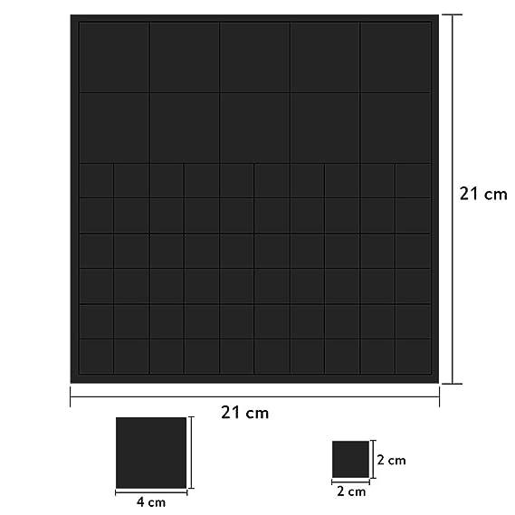 toolable 100 St/ück Magnetpl/ättchen selbstklebend extra stark 20x20mm Schwarz