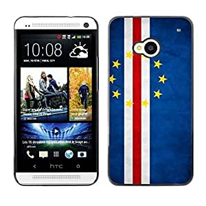 Shell-Star ( National Flag Series-Cape Verde ) Snap On Hard Protective Case For HTC One (M7)