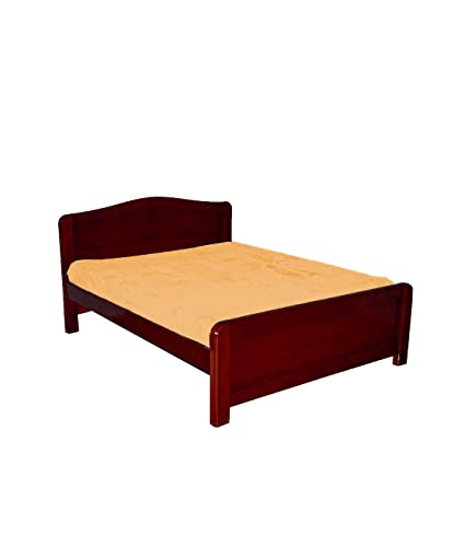. Tajfurn Queen Size Simple Wooden Bed Cot  6 5 x4  for Home Bedroom