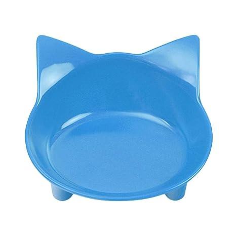 fgyhty Platos de Las Mascotas Cuencos Comida para Gatos Cuencos de Agua Cat Ancho y Poco