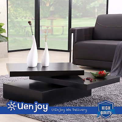 Awesome Suncoo Black Square Coffee Table Rotating Contemporary Cjindustries Chair Design For Home Cjindustriesco