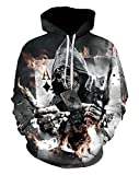 Doxi Skull Poker Print 3D Sweatshirts Hip Hop Hoodies Outwear Novelty Tracksuits Hoody