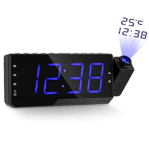 YANG Reloj Proyector Digital Radio Reloj Despertador ...