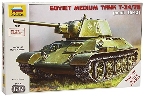 Zvezda Models 1/72 T-34/76 Soviet Tank (Snap Kit), used for sale  Delivered anywhere in USA