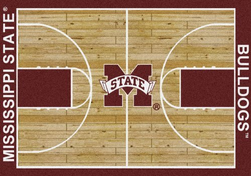 Mississippi State College Home Basketball Court Rug: 7'8