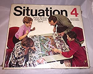 Vintage Situation 4 Game Parker Brothers 1968 by Situation 4