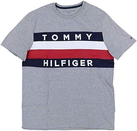Tommy Hilfiger Mens T-shirt Crew Neck Top Flag Logo Shirt Short Sleeve