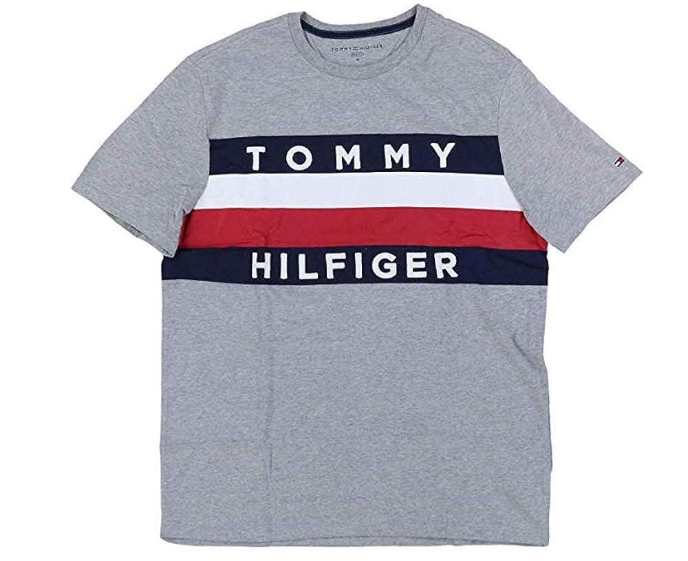 a40d9d2a Tommy Hilfiger Mens Large Graphic Flag Logo T-Shirt | Amazon.com