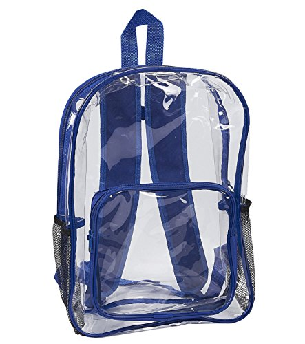 Clear Security Backpack - Waterproof Transparent Bag for Travel and Sports Events by Juvale