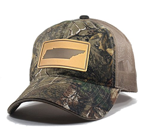 Homeland Tees Men's Tennessee Leather Patch Camo Trucker Hat - Realtree