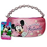 Disney Minnie Mouse Bow-tique Pink Glitter Mini Handbag w/Crystal Beaded Top Handle, Bags Central