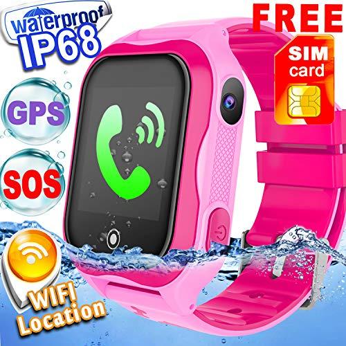Galleon - [SIM Card Included] Kid Smart Watch Phone GPS