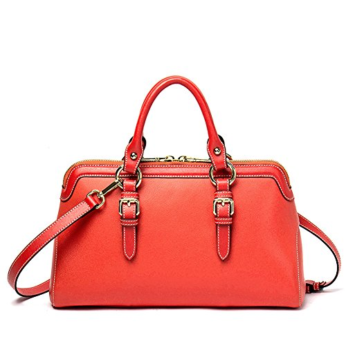 NAWO Women's Soft Leather Handbags Roomy Tote Purse Shoulder Bags for Ladies Girls