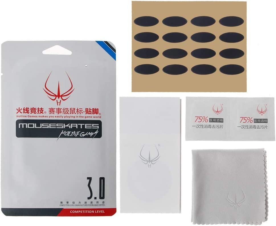 mengersty 4 Sets//Pack Original Hotline Games Competition Level Mouse Feet Mouse Skates Gildes for Microsoft IE3.0 IO1.1 Mouse 0.6mm Thickness Teflon