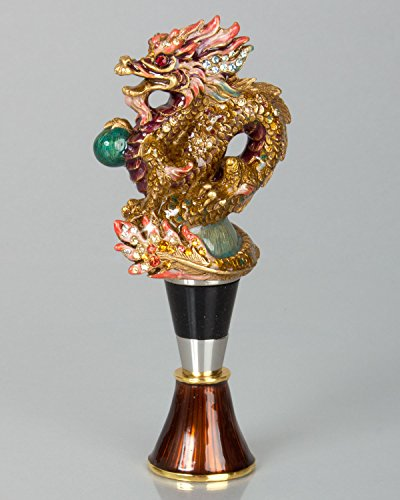 Jay Strongwater Dragon Wine Stopper with Stand Great NEW Collaction by Jay Strongwater