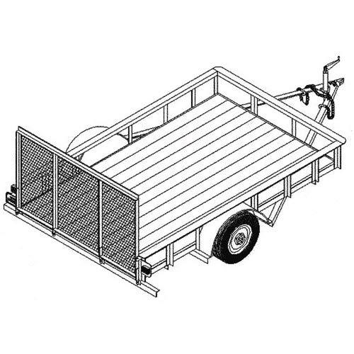 Utility Trailer Plans Blueprints (8' x 5' - Model T1108) by Master Plans & Design