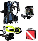 OCEANIC Travel Diver Package Biolite BCD Large Size CDX5 / GT3 Environmentally Sealed Reg Alpha 9 / Oceanic VTX Complete with Wireless Transmitter