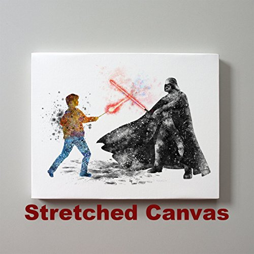 Harry Potter Canvas - Star Wars Harry Potter vs Darth Vader 11 x 14 inches Stretched Canvas Print