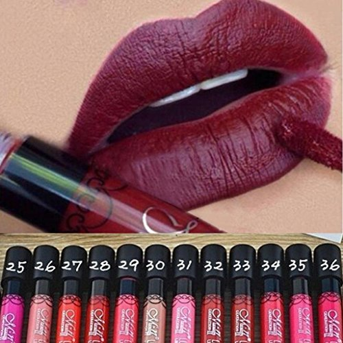 binmer tm 12 pcs waterproof lip gloss matte velvet long lasting lipstick pencil cosmetic news. Black Bedroom Furniture Sets. Home Design Ideas