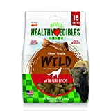 Nylabone Healthy Edibles Wild Bison Dog Treats | All Natural Grain Free Dog Treats Made In the USA Only | Small and Large Dog Chew Treats | 16 Count