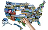 RV State Sticker Travel Map || 14'' x 22''|| 50 - USA Scenic and Landmarks Visited Decal || USA Road Trip Window Stickers || Motor Home Camper Trailer 5th Wheel Accessories