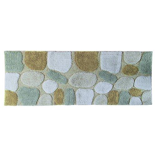 Chesapeake Merchandising Pebbles Cotton 24 in x 60 in Bath Runner, Spa by Chesapeake Merchandising
