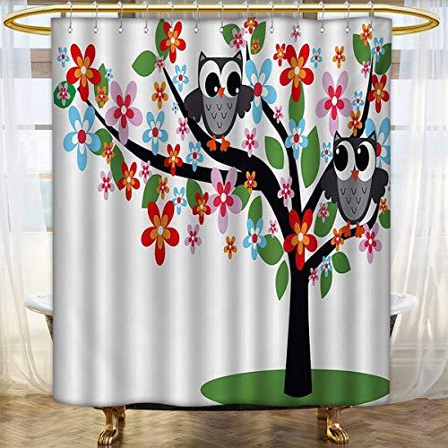 lacencn Nursery,Shower Curtains Digital Printing,Two Flirty