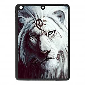 Black and White Photograph Animal Series Fashion Lion Design Hot Custom Luxury Cover Case For IPad air (Ipad 5)(Black) with Best Plastic ALL MY DREAMS