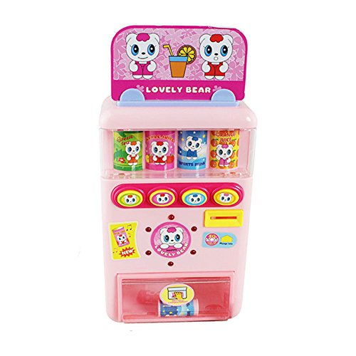 Fashionwu Simulate Electric Talking Vending Machine Set with Music Kid's Play-House Toy Scale Snack Machine Gift Ornament