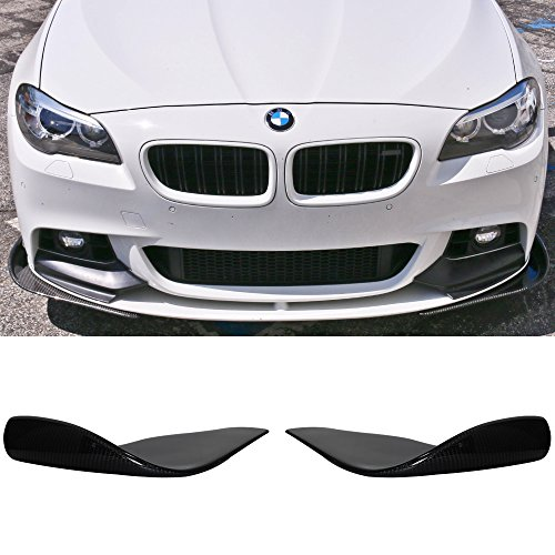 Front Bumper Lip Fits Universal Vehicles | Type 2 Black CF Front Lip Finisher Under Chin Spoiler Add On Splitter Valance Underbody by IKON MOTORSPORTS -