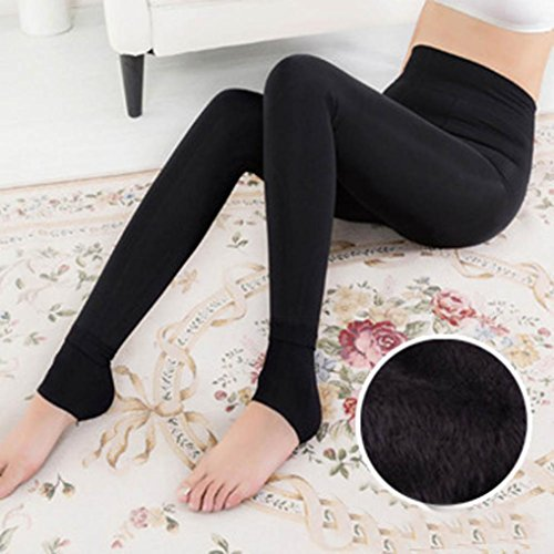 Egmy 2017 Women Thick Stockings Pantyhose Paque Footed Socks Tights Pants Black JZDY54JF