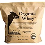 Raw Organic Whey 5LB – USDA Certified Organic Whey Protein Powder, Happy Healthy Cows, COLD PROCESSED Undenatured 100% Grass Fed + NON-GMO + rBGH Free + Gluten Free, Unflavored, Unsweetened(5 LB BULK)