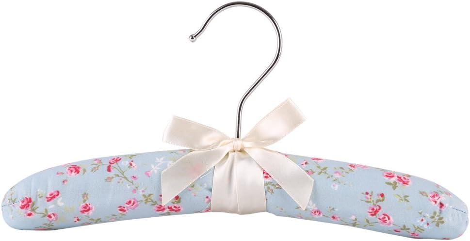 NEOVIVA Percha para beb/é Suave Esponja Acolchada L Floral Blue Ocean CM for Baby Pack de 5 26 Tela