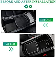 Accord Interior Accessories,Center Console Pad Liners Compatible with Honda Accord 2018 2019 2020,Night Luminous Version White