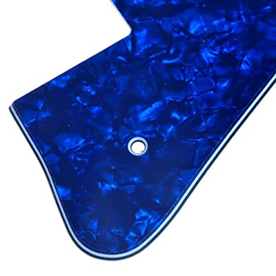 Kmise A6640 1 Piece New Blue Pearl Electric Guitar Pickguard for Gibson Les Paul Guitar Replacement from Kmise