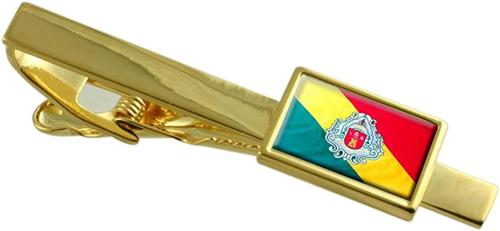 Embu City Sao Paulo State Flag Gold-tone Tie Clip Engraved Personalised