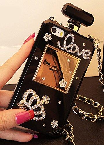 Galaxy S8 Plus Case,Galaxy S8 Plus Diamond Perfume Bottle Case,Goodaa Luxury Elegant Diamond Perfume Bottle Crystal Rhinestone Crown Cover Case For Galaxy S8 Plus with Free String Black