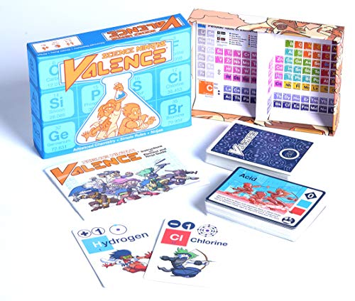 Kids Science Games - Science Ninjas : Valence Card Game-